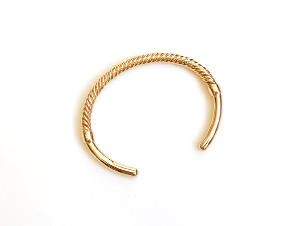 Gold Plated Brass Twist Cuff