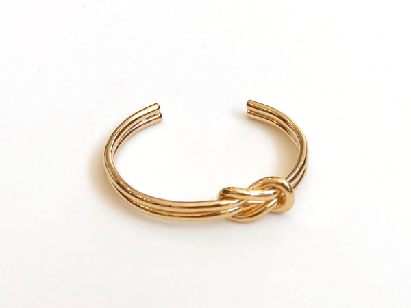 Gold Plated Brass Knot Cuff
