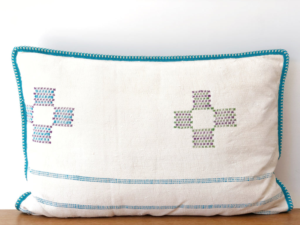 Handwoven Pillow XL - White
