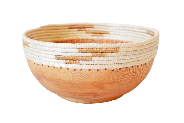 Hand-Carved Wood Bowl - Small