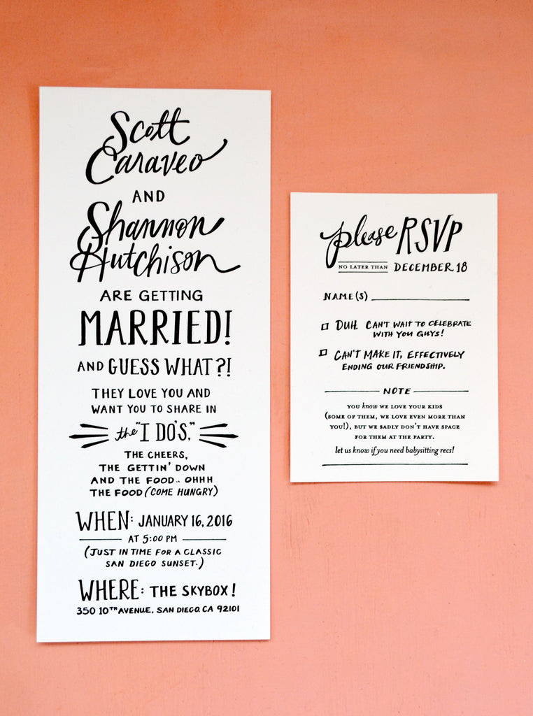 Custom wedding stationery odd daughter odd daughter paper co well work with you to dream up a design that will perfectly depict your love and your wedding day check out our process and request a quote below stopboris