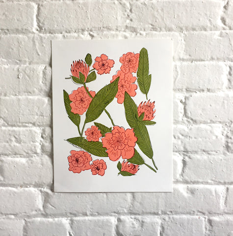 "Botanical print - 11x14"" (COLOR)"