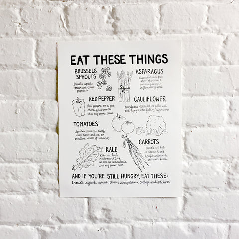 Eat These Things print - 11x14""