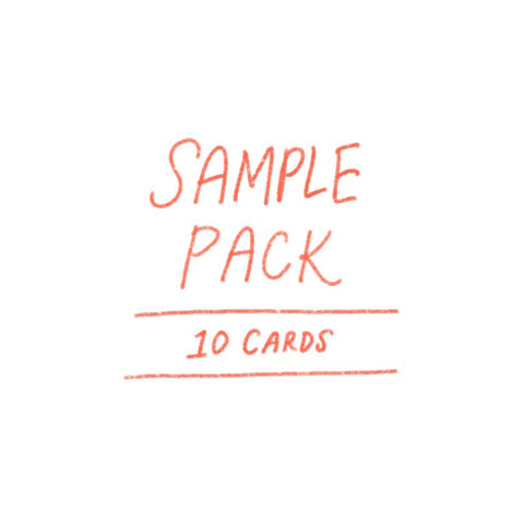 SAMPLE pack - 10 cards