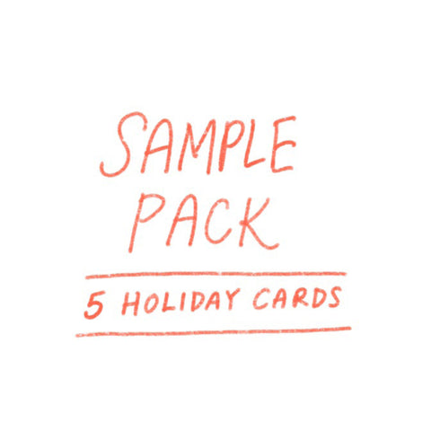 SAMPLE PACK - Holiday (5 cards)