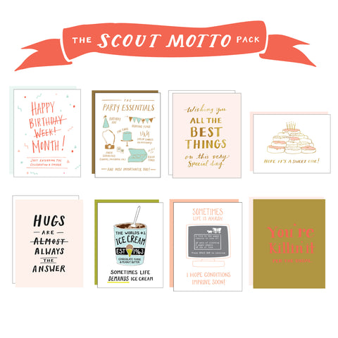 "Scout Motto ""Always Be Prepared"" Pack - 8 cards"