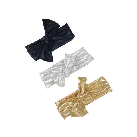 Gold, silver or faux-leather head wrap