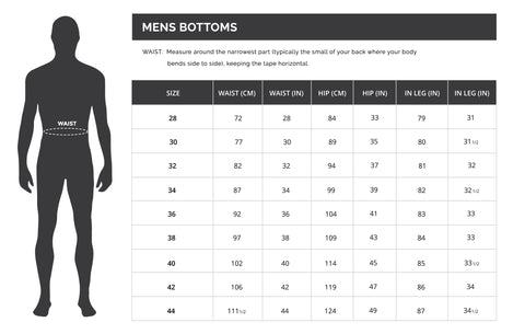DUDE Clothing Men's Tops Sizing Guide