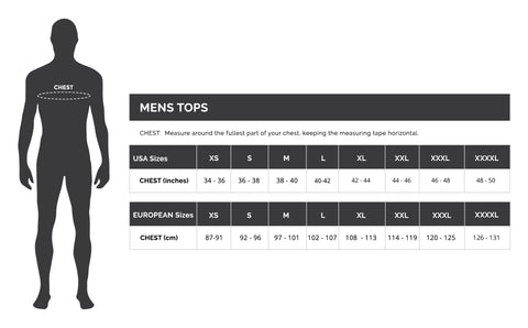DUDE Clothing Men's bottoms sizing guide