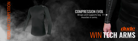 February Competition win tech arms compression shirt