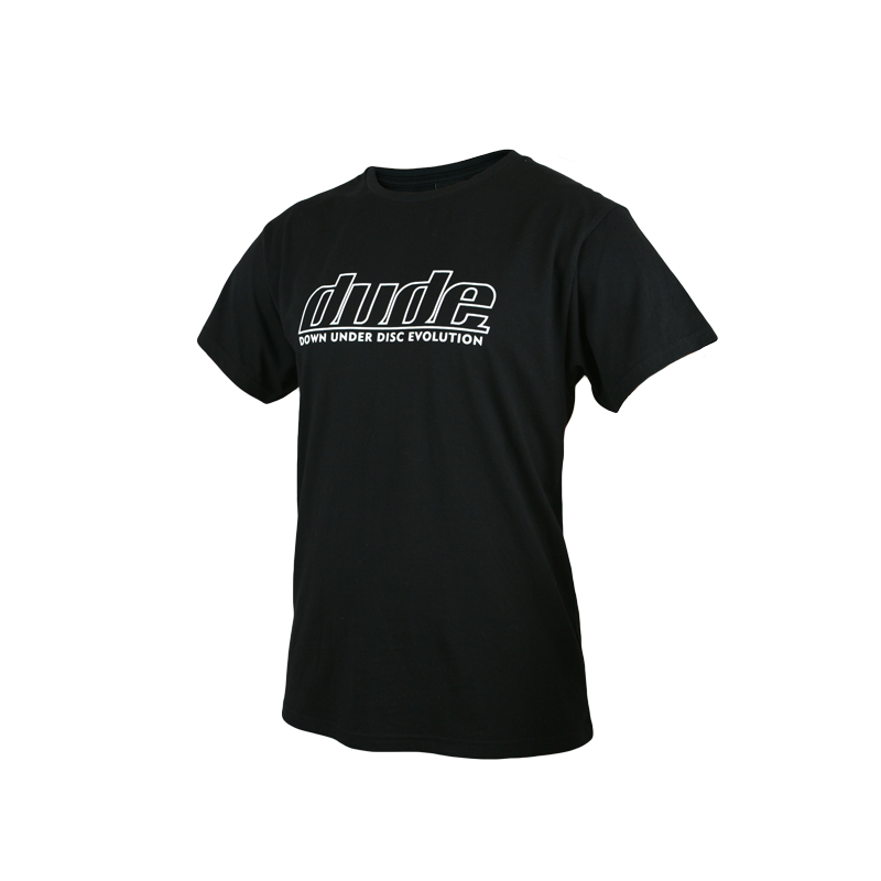 An image of Blank Corporate Tees in black color with one colour logo print and Fold over labels