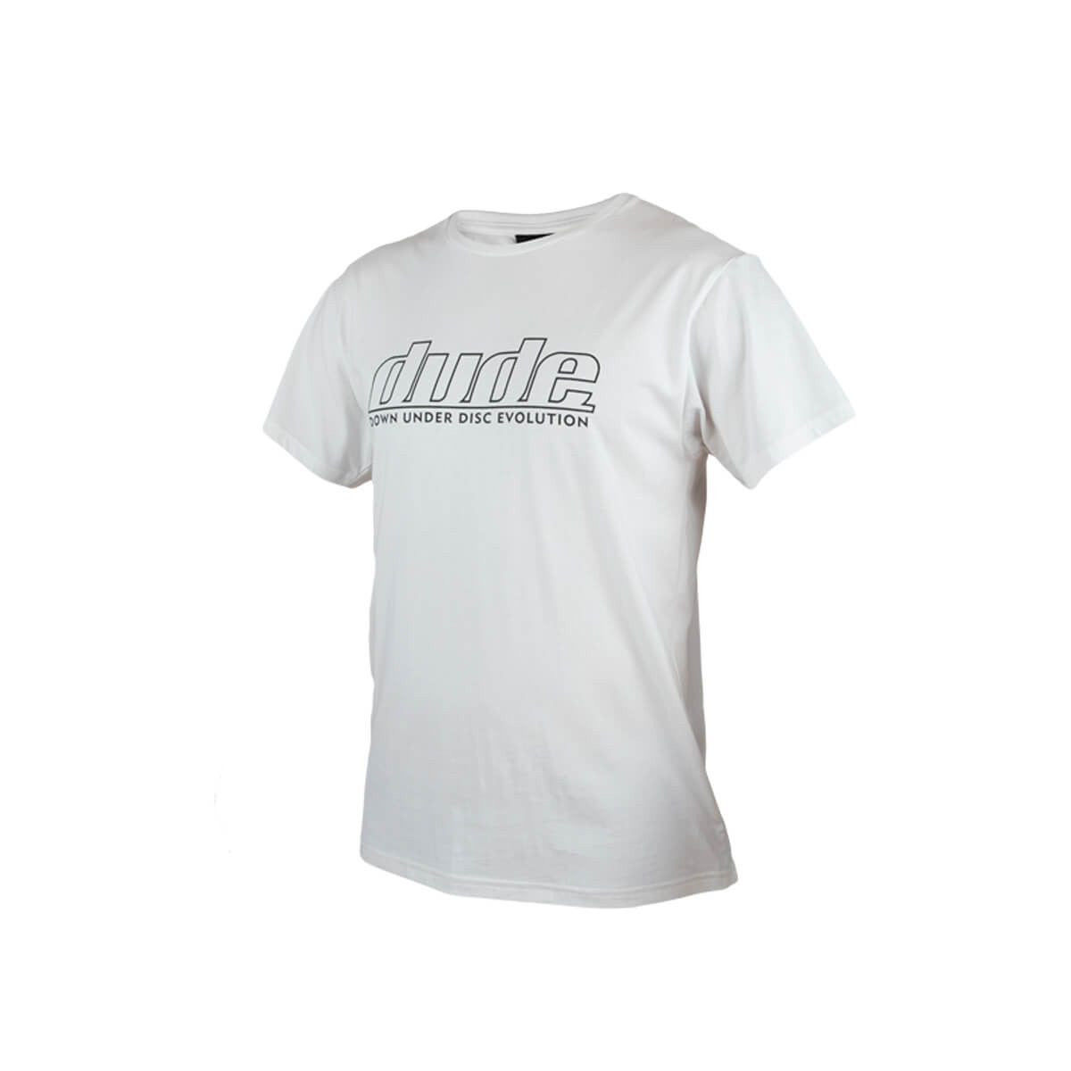 An image of Blank Corporate Tees in white color with one colour logo print and fold over labels