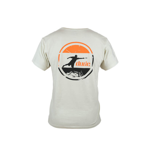 An image showing Arden Cotton Tee, Disc golf apparel.  Off White Color.