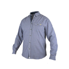 An image showing Dude Woven Shirt from Dude, long sleeves checkered design