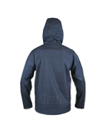 An image showing Dude Tech Caddy Jacket in navy with Scalloped longer back