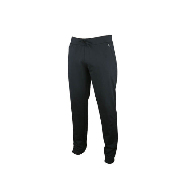 An image showing Dude Mens Tracky Dacs in black color with Side zip pockets