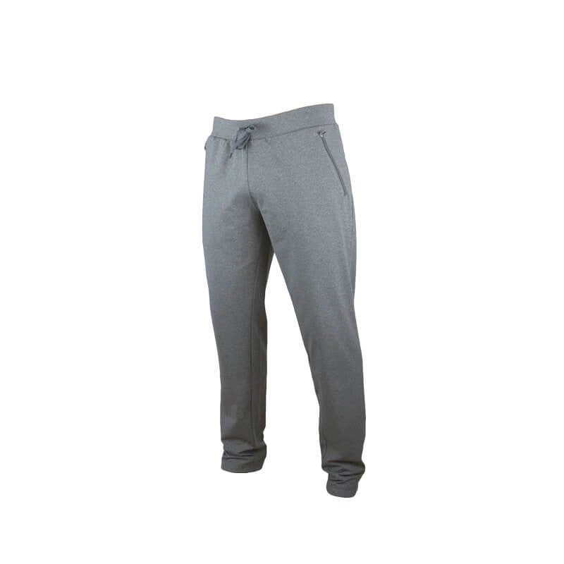 An image showing Dude Mens Tracky Dacs in grey color with Side zip pockets