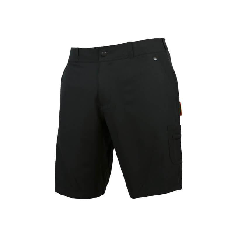 An image showing  Tech Caddie Shorts Europe in black color with Microfibre custom micro waistband