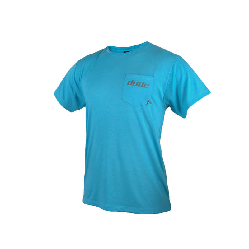 An image showing Mens Boomer Tee in blue color with Crew neck