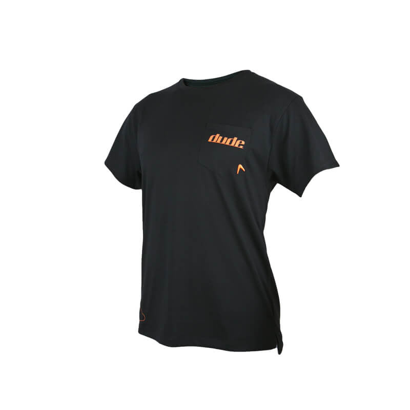 An image showing Mens Boomer Tee in black color with Crew neck