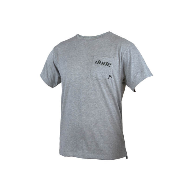 An image showing Mens Boomer Tee in grey color with Crew neck