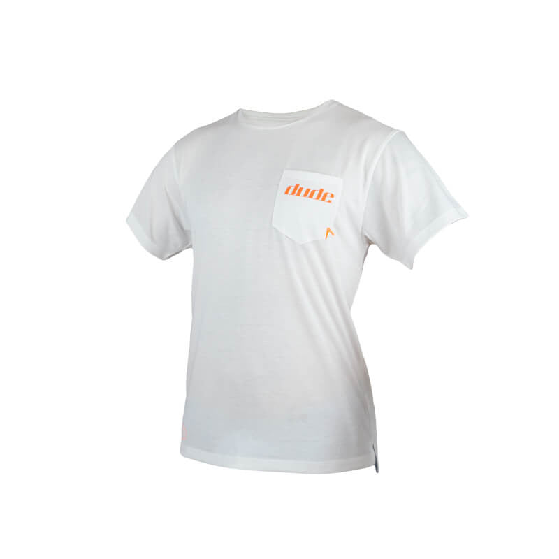 An image showing Mens Boomer Tee in white color with Crew neck