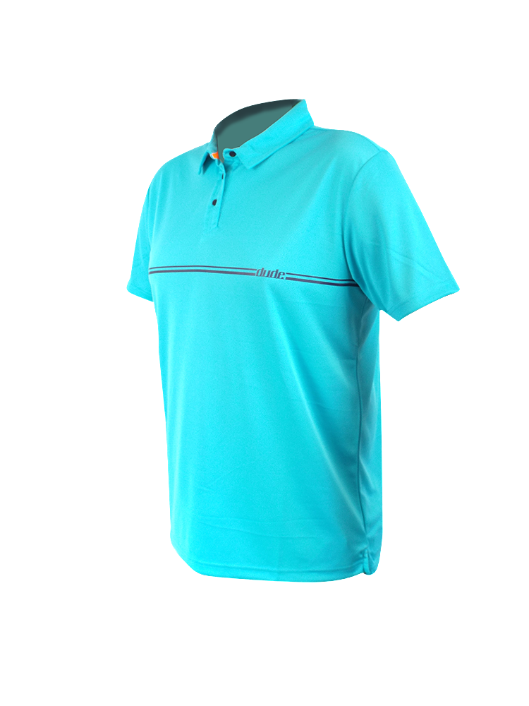 An image showing Barsby Polo-  Disc golf polo shirts, Aqua Color.