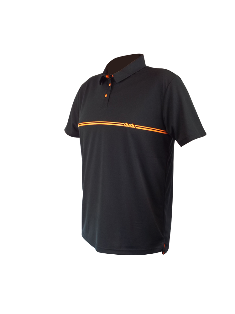 An image showing Barsby Polo-  Disc golf polo shirt,  color black.