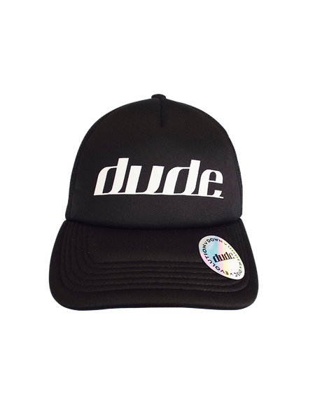 An image of DUDE Origin Trucker Hat front view