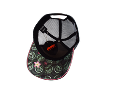 An image showing a Black Jessica Trucker Cap with Toweling sweatband