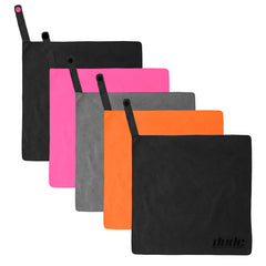 An image showing Dude Tech Towel in different colors