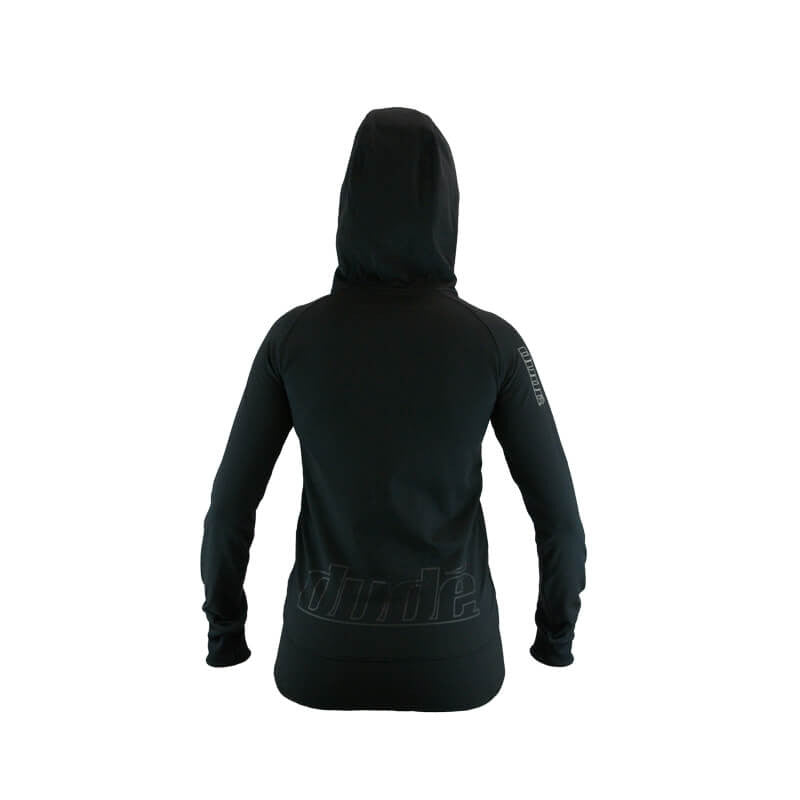 An image showing the back design  of Ladies Inspire Tech Hoodie
