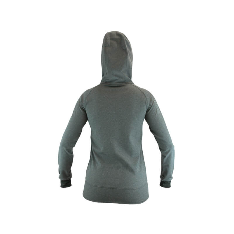 An image showing the back design  of Ladies Inspire Tech Hoodie - Color Gray