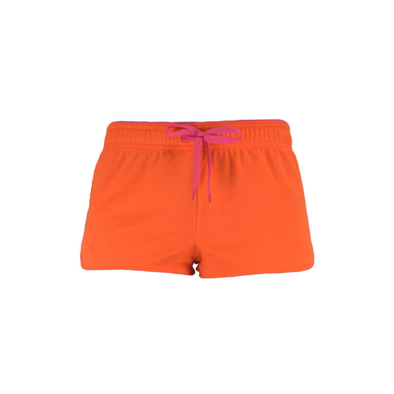 An image showing Ultimate Reversible Tech Shorts.  Tech reversible shorts color  orange