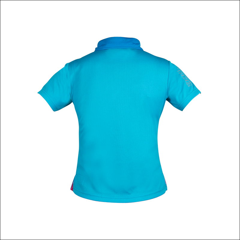 An back image of Melodie Pro Polo blue in color with Slim fit design