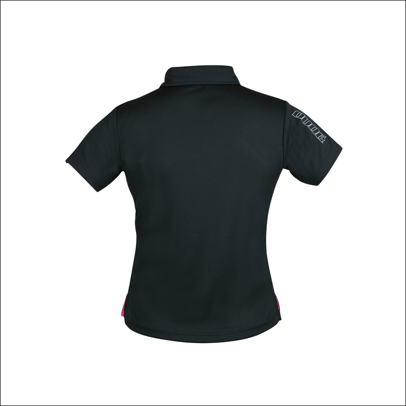 An back image of Melodie Pro Polo black in color with Slim fit design