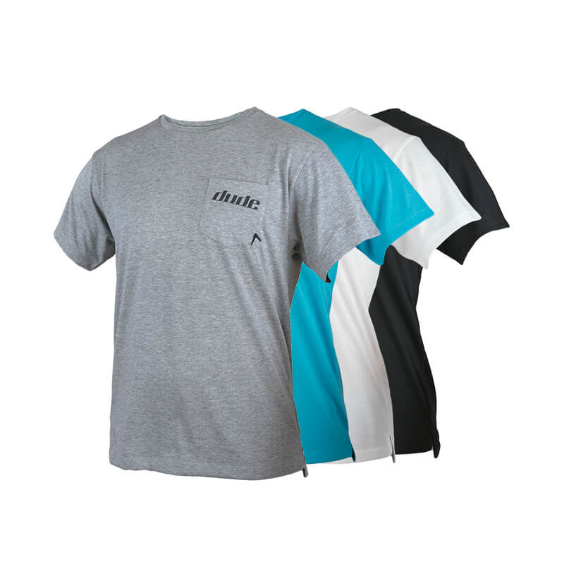 An image showing Mens Boomer Tee with 85% polyester 15% cotton Dri-Release