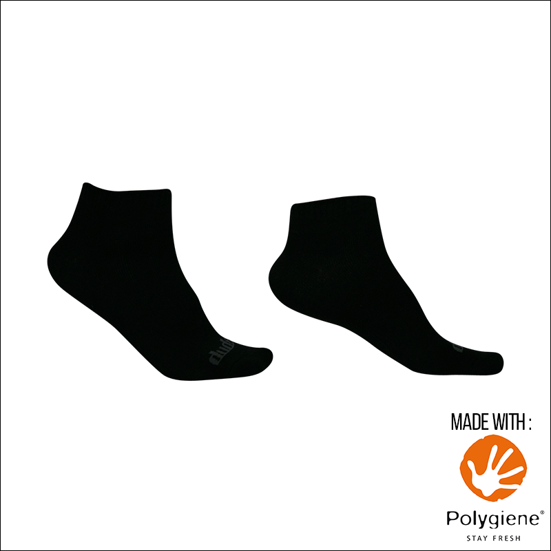 An image showing Reversible Unstinkable Socks from Dude Apparel. Black in color