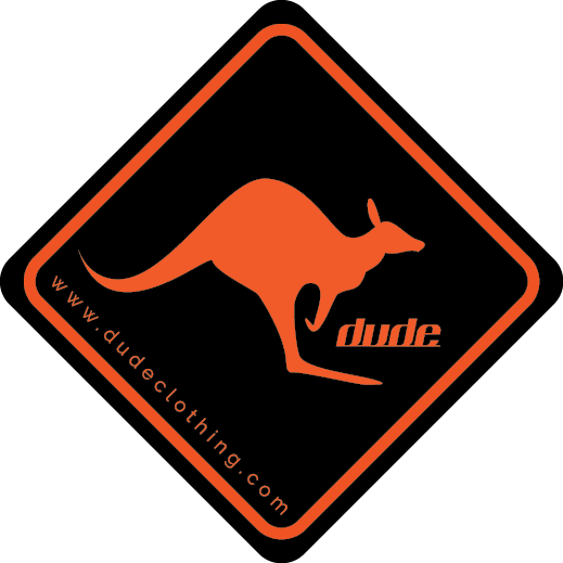 Dude Kangaroo Sign Stickers
