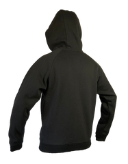 An image showing Dude Mens Inspire Tech Hoodie in black color with Ultra-warm fleece and comfortable