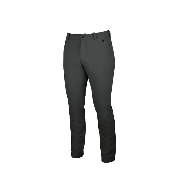 An image showing Dude Mens Disc Dacs in grey color with Straight leg pant and Zip back welt pockets