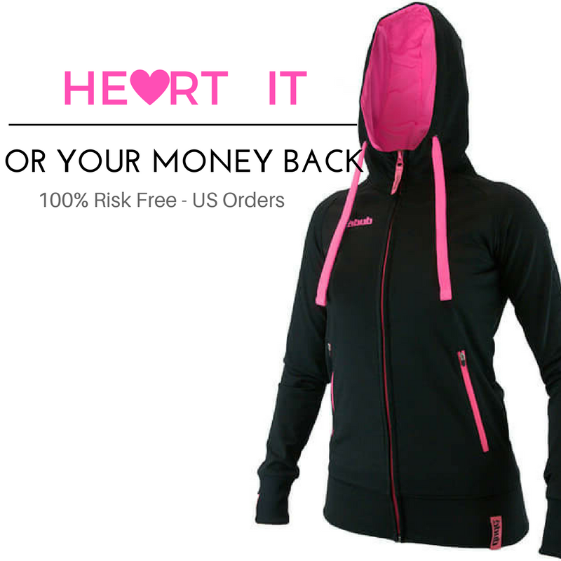 An image showing Ladies Inspire Tech Hoodie with a money back guaranteed posts