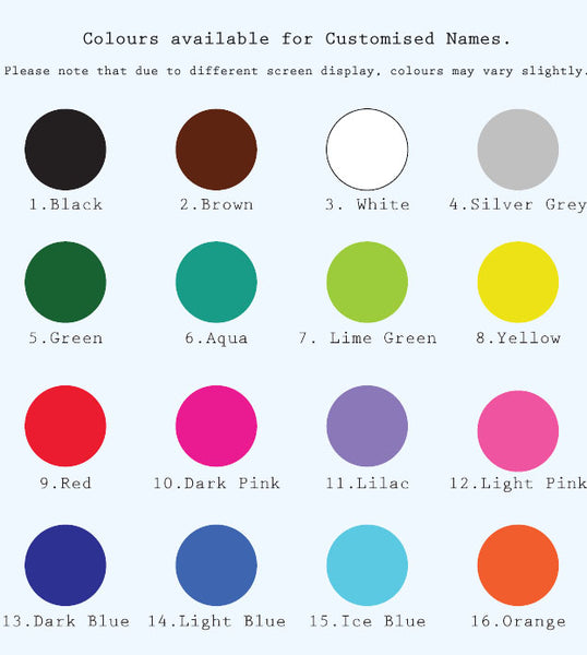 Wall Decal Colour Chart Pikit Kids