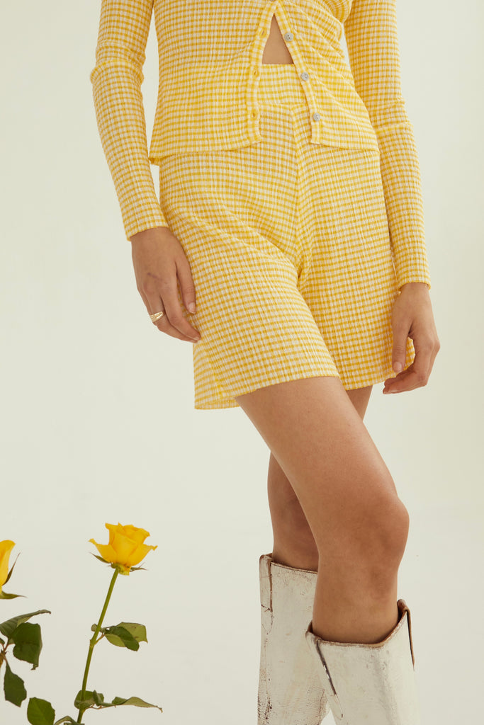 Ritual Flared Shorts | Yellow