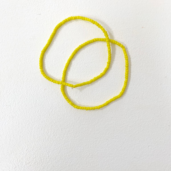 Beaded Anklet | Yellow