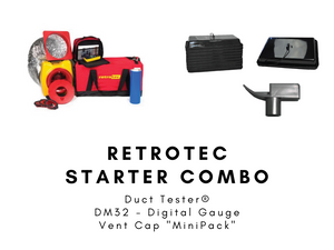 "Duct Leakage Testing Equipment | ""Starter Combo"" - Vent Cap Systems - Home Performance - Duct Leakage Testing Products"