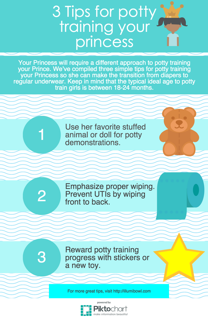 Infographic: 3 Tips for potty training your princess