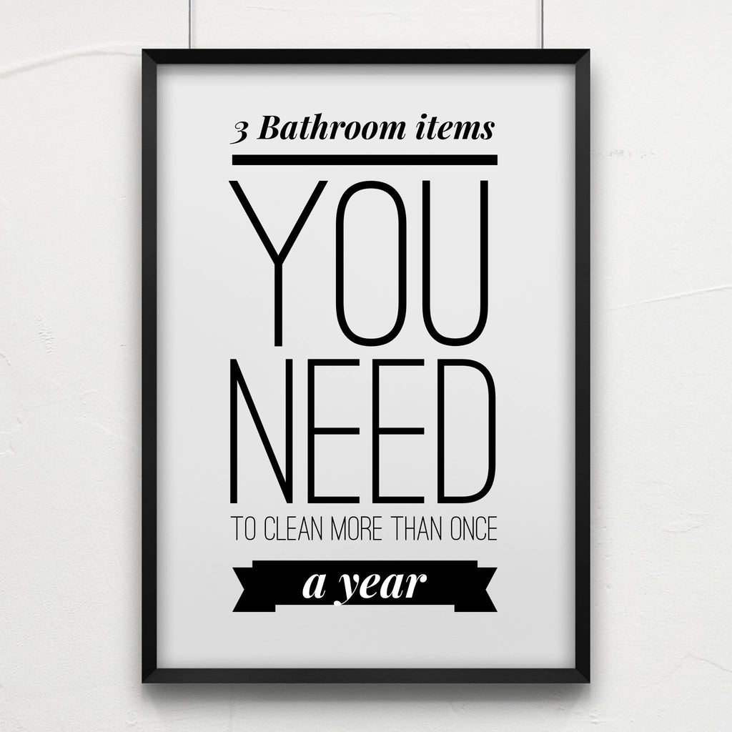 3 Things in your bathroom you should clean more than once a year