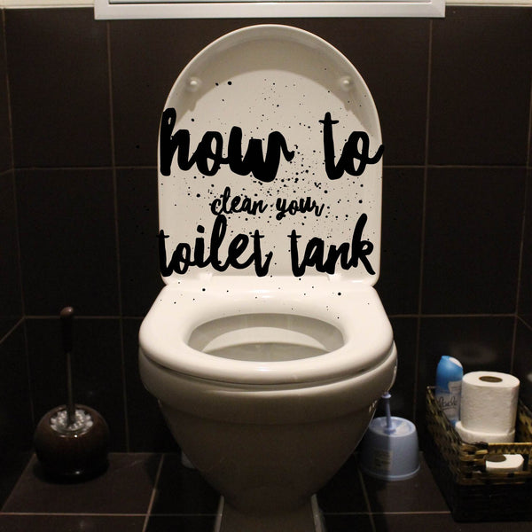 How to clean your toilet tank