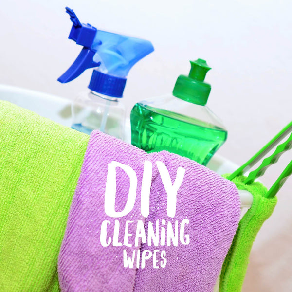 DIY cleaning wipes for your bathroom
